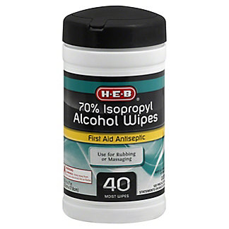 H-E-B 70% Isopropyl Alcohol Wipes, 40 ct