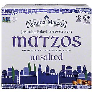 Yehuda Matzos Jerusalem Baked Unsalted Matzo Thins,10.5 OZ