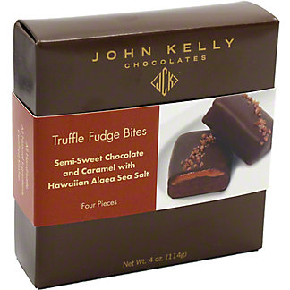 JOHN KELLY CHOCOLATES John Kelly Fudge Truffle Bites Caramel w/ Sea Salt Semisweet,4 OZ