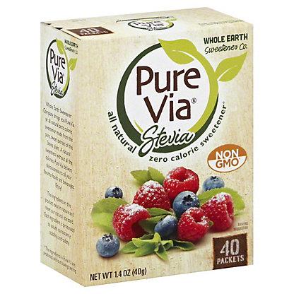 Pure Via Stevia Natural Zero Calorie Sweetener Packets,40 CT