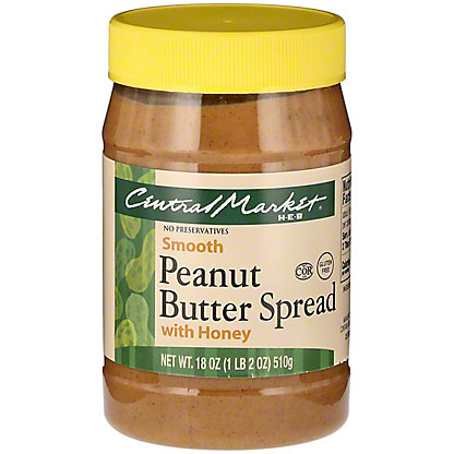 Central Market Peanut Butter with Honey, 18 oz