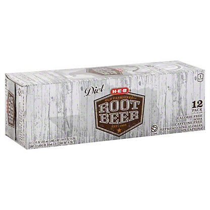H-E-B Diet Old Fashioned Root Beer, 12 - 12oz Cans