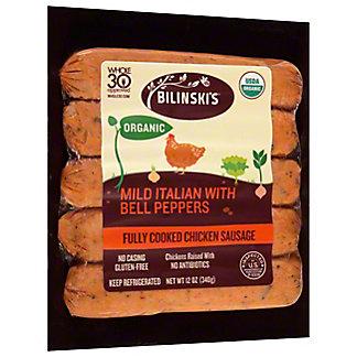 Bilinski's Organic Chicken Sweet Italian Sausage,12 OZ