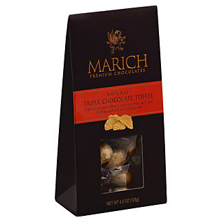 Marich Tent Box Triple Chocolate Toffees, 4.5 OZ