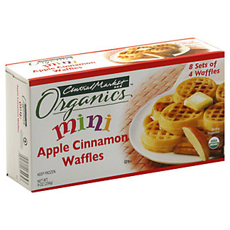 Central Market Organics Mini Apple Cinnamon Waffles, 32 ct