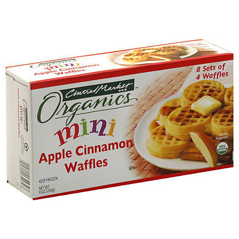Central Market Organics Mini Apple Cinnamon Waffles 32 CT