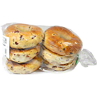 Central Market Boiled Bagels Cranberry Pecan 6 Pack, 24 oz