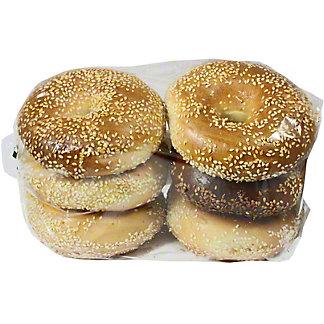 Central Market Boiled Bagels Sesame Seed 6 Pack, 24 oz
