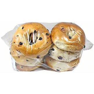 Central Market Boiled Bagels Blueberry 6 Pack, 24 oz