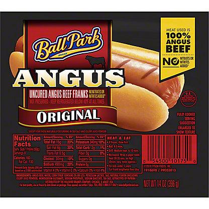 Ball Park Original Angus Beef Franks,8 CT