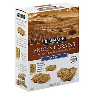 Sesmark Ancient Grains All Natural Sea Salt Snack Crackers, 3.5 OZ