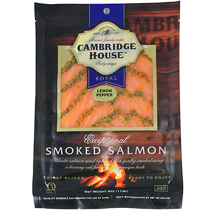 Cambridge House Lemon Pepper Smoked Salmon, 4 oz