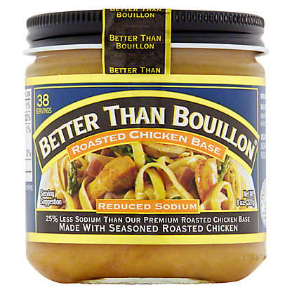 Better Than Bouillon Reduced Sodium Chicken Base, All Natural,8 oz