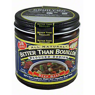 Better Than Bouillon Beef Base Reduced Sodium,8 oz