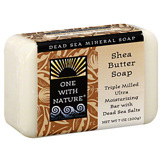 One With Nature Dead Sea Shea Butter Mineral Soap, 7 OZ