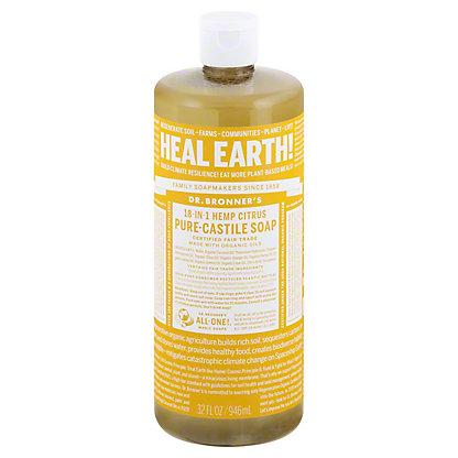Dr. Bronner's 18-in-1 Hemp Citrus Orange Pure-Castile Soap,32 OZ