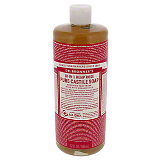 Dr. Bronner's 18-in-1 Hemp Rose Pure-Castile Soap,32 OZ