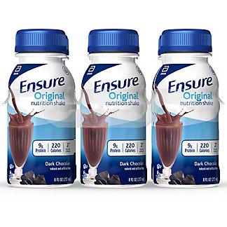 Ensure Original Nutrition Shake Dark Chocolate 6 pk, 8 oz