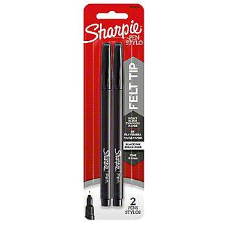 Sharpie Fine Point Black Pens, 2 ct