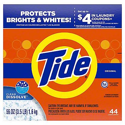 Tide Original Scent HE Powder Laundry Detergent 40 Loads, 56 oz
