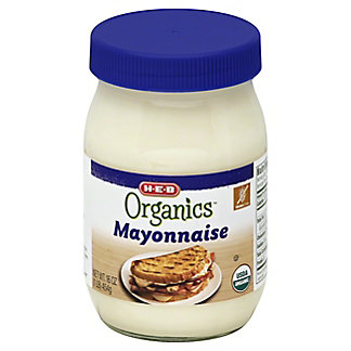 H-E-B Organics Plain Mayonnaise,16 OZ