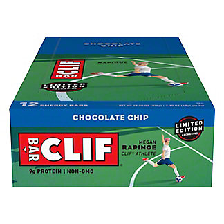 Clif Chocolate Chip Energy Bars, 12 ct