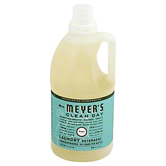 Mrs. Meyer's Clean Day HE Concentrated Basil Scent Laundry Detergent 64 Loads,64 OZ