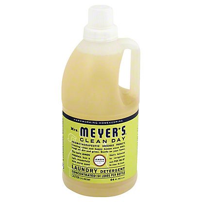 Mrs. Meyer's Clean Day HE Concentrated Lemon Verbena Scent Laundry Detergent,64 Loads - 64 OZ