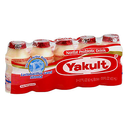 Yakult Cultured Probiotic Drink with Dairy, 5 ct