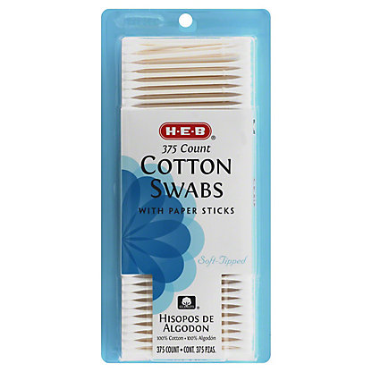 H-E-B Cotton Swabs with Paper Sticks,375 CT