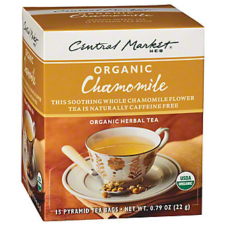 Central Market Organics Chamomile Herbal Pyramid Tea Bags,15 CT