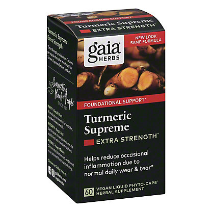 Gaia Herbs SystemSupport Turmeric Supreme Vegetarian Liquid Phyto-Caps, 60 ct