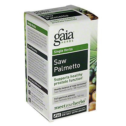 Gaia Herbs Saw Palmetto Liquid Phyto-Caps, 60 ct