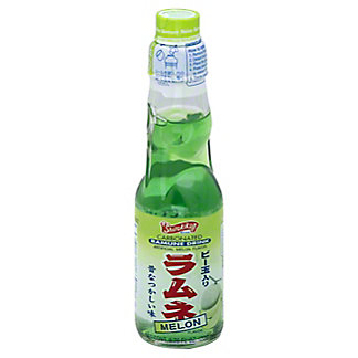 Shirakiku Carbonated Melon Ramune Drink,6.76 OZ