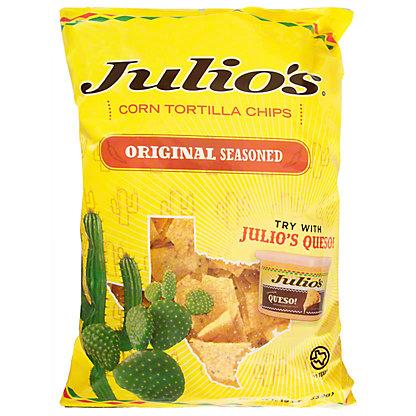 Julio's Seasoned Corn Tortilla Chips, 20 oz