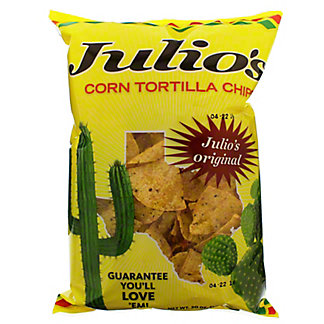 Julio's Seasoned Corn Tortilla Chips, 20 oz