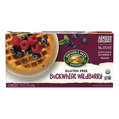 Nature's Path Organic Buckwheat Wildberry Waffles, 6 ct