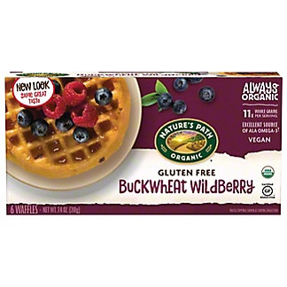 Nature's Path Organic Buckwheat Wildberry Waffles, 6 ct