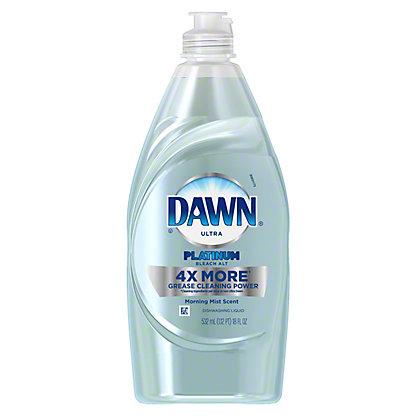 Dawn Platinum Morning Mist Bleach Alternative Dishwashing Soap, 18 oz
