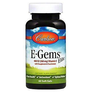 Carlson E-Gems Elite 400 IU Softgels, 60 ct