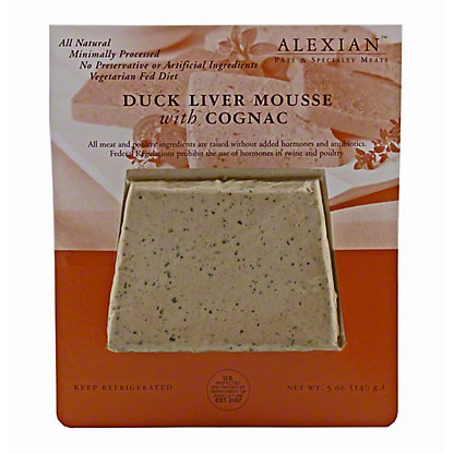 Alexian Duck Liver Mousse with Cognac,5 OZ