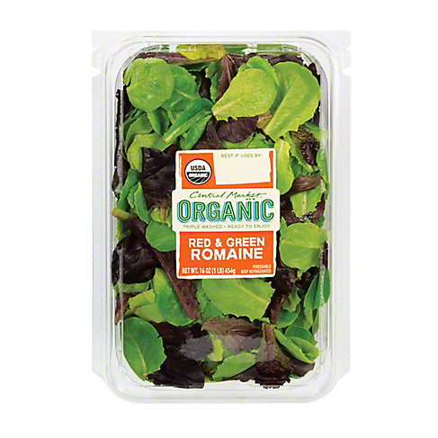 Central Market Organics Baby Red and Green Romaine Blend, 16 OZ