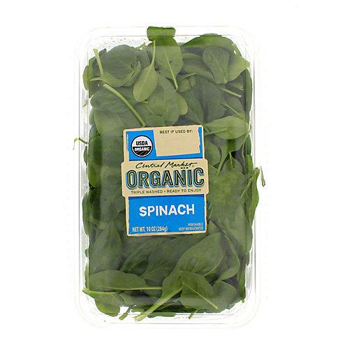 Central Market Organics Spinach, 10 OZ
