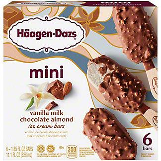 Haagen-Dazs Vanilla Milk Chocolate Almond Snack Size Ice Cream Bars,6 CT