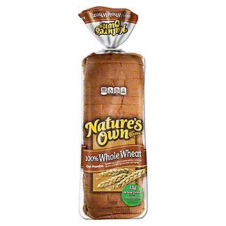 Nature's Own 100% Whole Wheat Bread, 20 oz