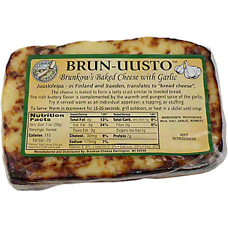 Brun-Uusto Brunkow's Baked Cheese with Garlic,LB