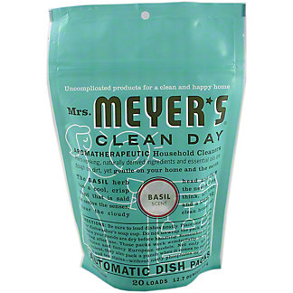 Mrs Meyers Clean Day Basil Automatic Dish Packs,12.70 oz