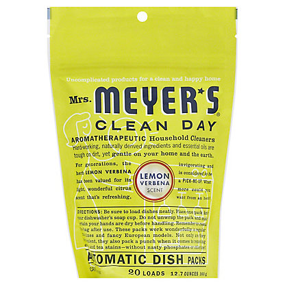 Mrs. Meyer's Clean Day Lemon Verbena Scent Automatic Dish Packs,20 ct