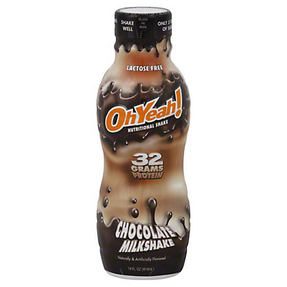 Oh Yeah! Chocolate Milkshake Nutritional Shake, 14 oz