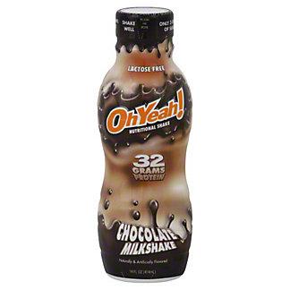 Oh Yeah! Chocolate Milkshake Nutritional Shake, 14 oz